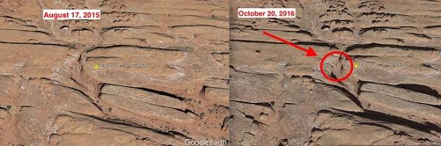 Monolito de Metal ubicación en Google Earth