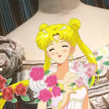 El vestido de la princesa Serenity existe en la vida real y fue diseñado por Dior