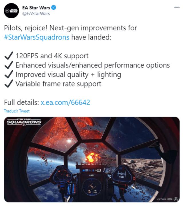 Star Wars Squadrons tiene versión 3.0