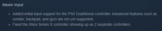 Steam control PS5