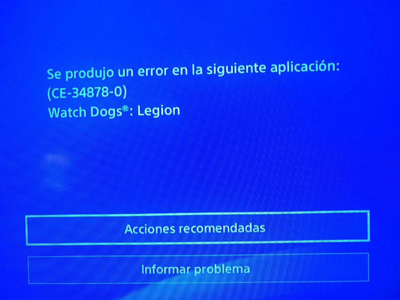 Error Watch Dogs Legion y Assasin's Creed Valhalla