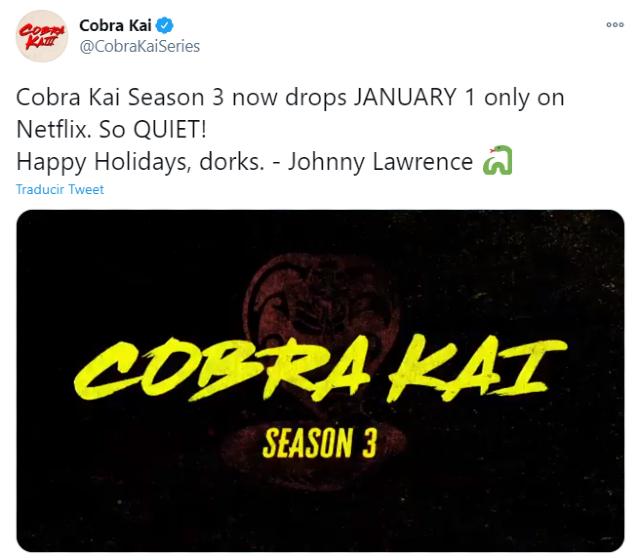 Cobra Kai adelanta el estreno de la temporada 3 en Netflix