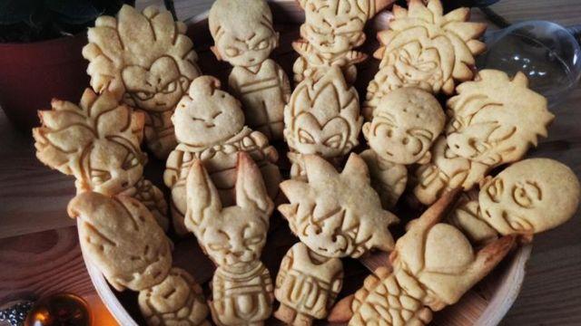 Fanáticos de Dragon Ball enloquecen por galletitas en forma de sus personajes favoritos