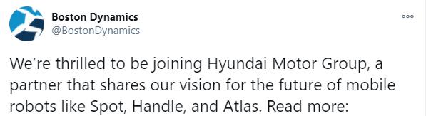 Hyundai adquiere el 80% de Boston Dynamics