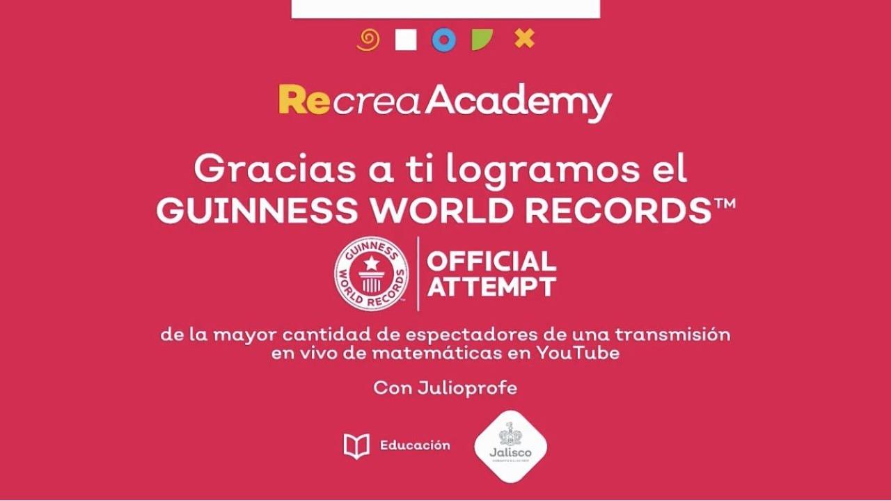 Julio Profe logra llevarse el récord Guiness de la clase online de matemáticas con la mayor cantidad de espectadores