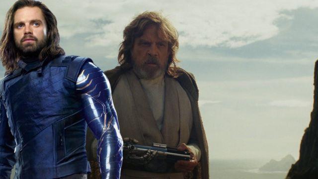 Sebatian Stan y Luke Skywalker
