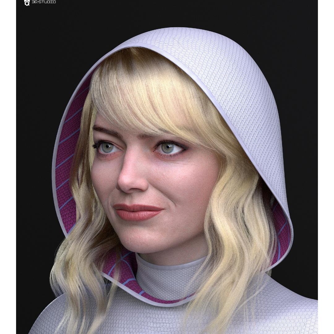 Marvel_ Artista crea fan art realista imaginando a Emma Stone como Spider-Gwen (2)