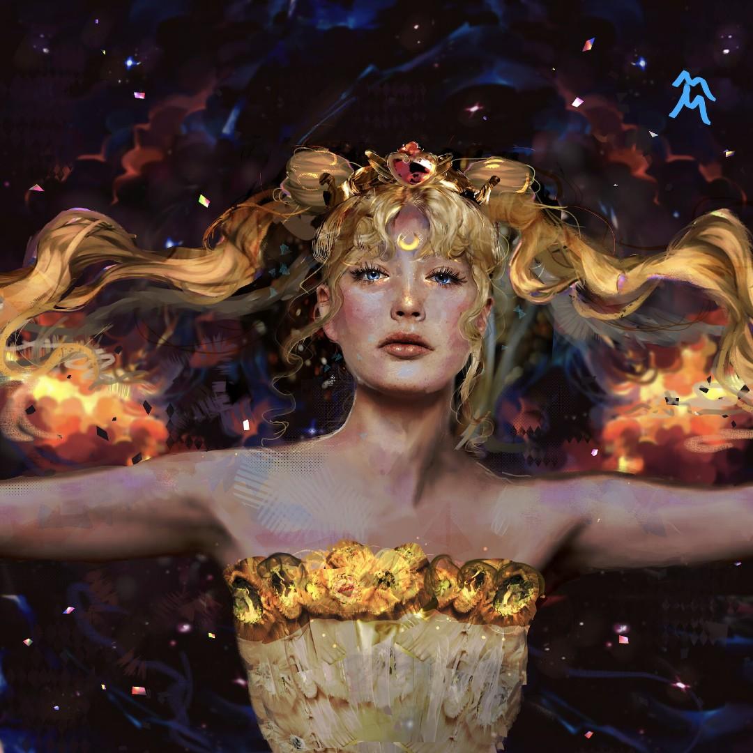 Sailor Moon_ Fan convierte a la princesa Neo Serenity en toda una obra de arte (2)