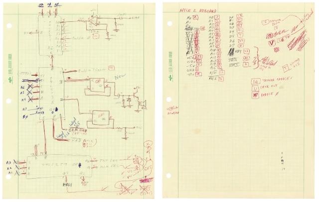 Subastan bocetos de Apple II hechos por Steve Wozniak