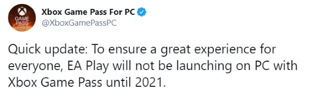 Xbox Game Pass retrasa EA Play para PC