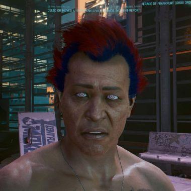 Captura de Cyberpunk 2077 tomada en PC.