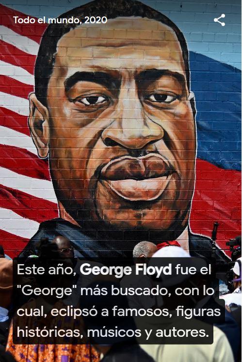 George Floy fue el George más buscado este 2020