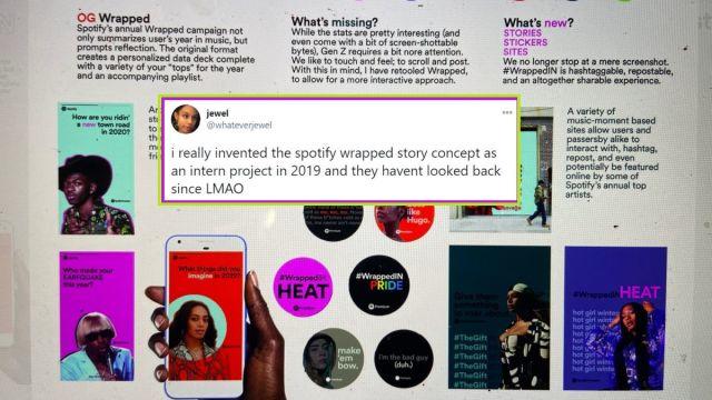 Jewel Ham asegura que inventó las stories de Spotify Wrapped y no le dieron crédito