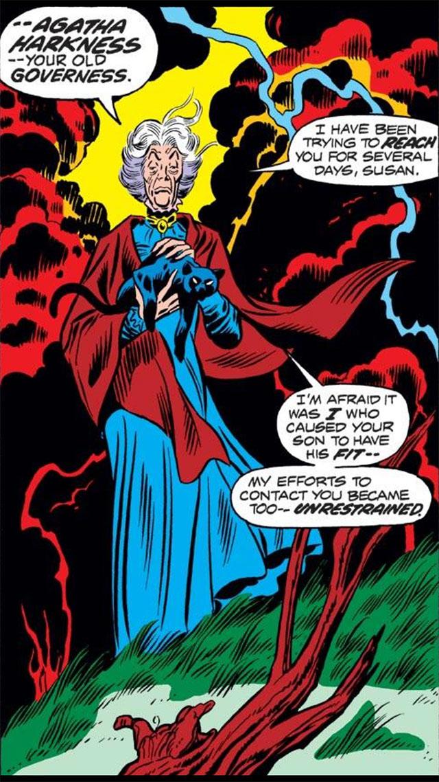 Agatha Harkness, Fantastic Four #140 / Imagen: Marvel Comics
