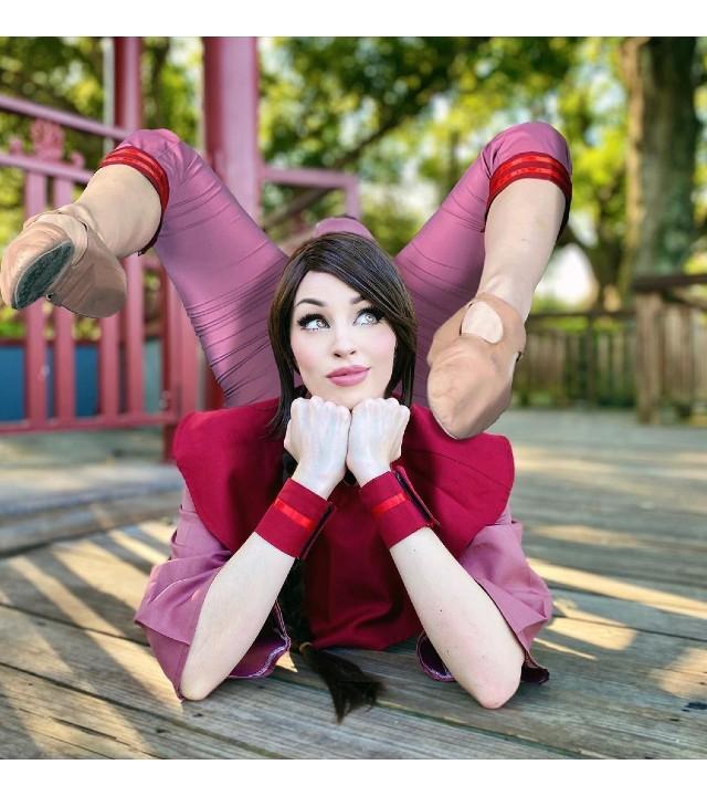 Avatar: Chica crea un increíble cosplay de Ty Lee demostrando su gran habilidad gimnasta