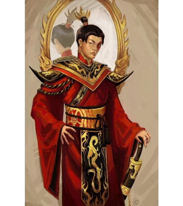 Avatar: Fan art imagina un asombroso retrato de Zuko después de su coronación