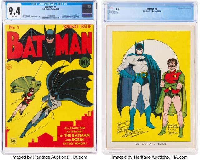 Batman 1 se vende por récord en subasta