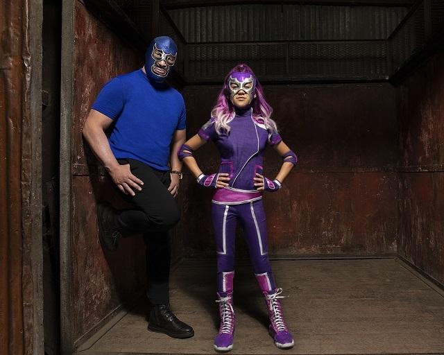 Primera imagen de Blue Demon Jr y Ultra Violet