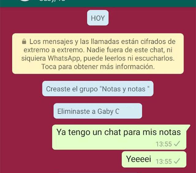 Cómo crear chat para platicar contigo mismo en WhatsApp