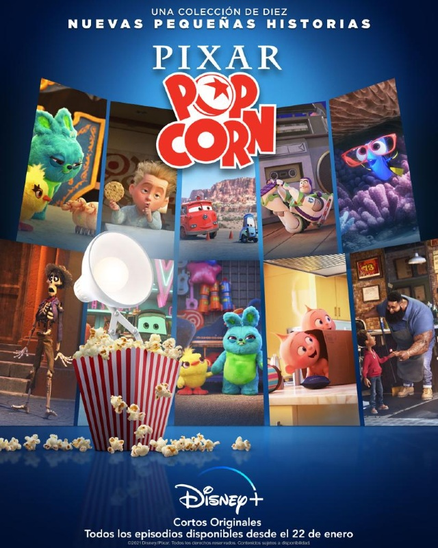 Disney+ estrena Pixar Popcorn este 22 de enero