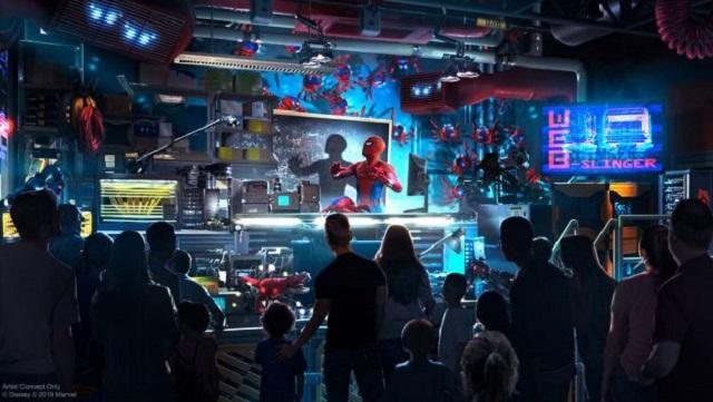 Disneyland presenta la atracción de Spider-Man