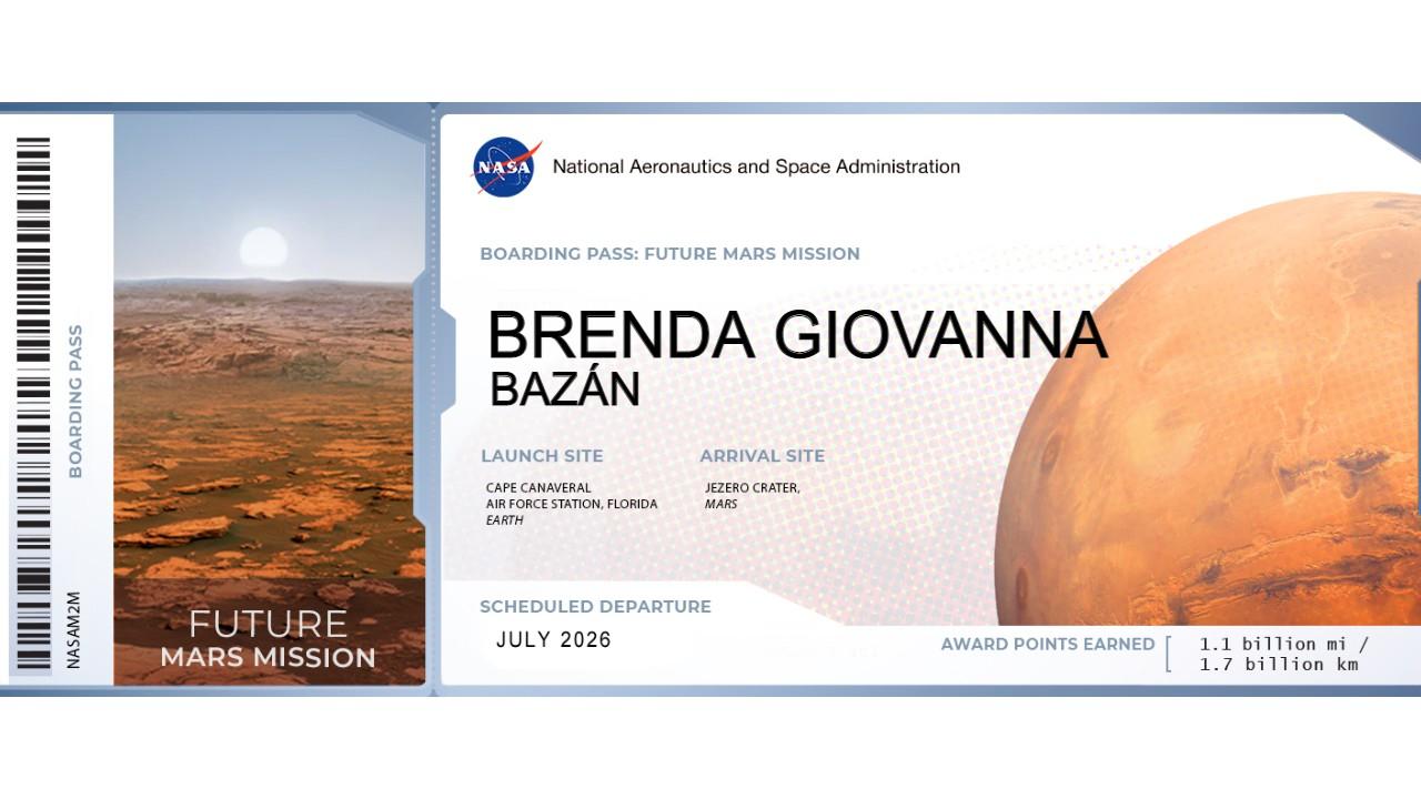 Envía tu nombre a Marte para la segunda misión de Rover