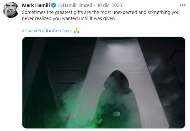 Mark Hamill agradece el cameo en The Mandalorian