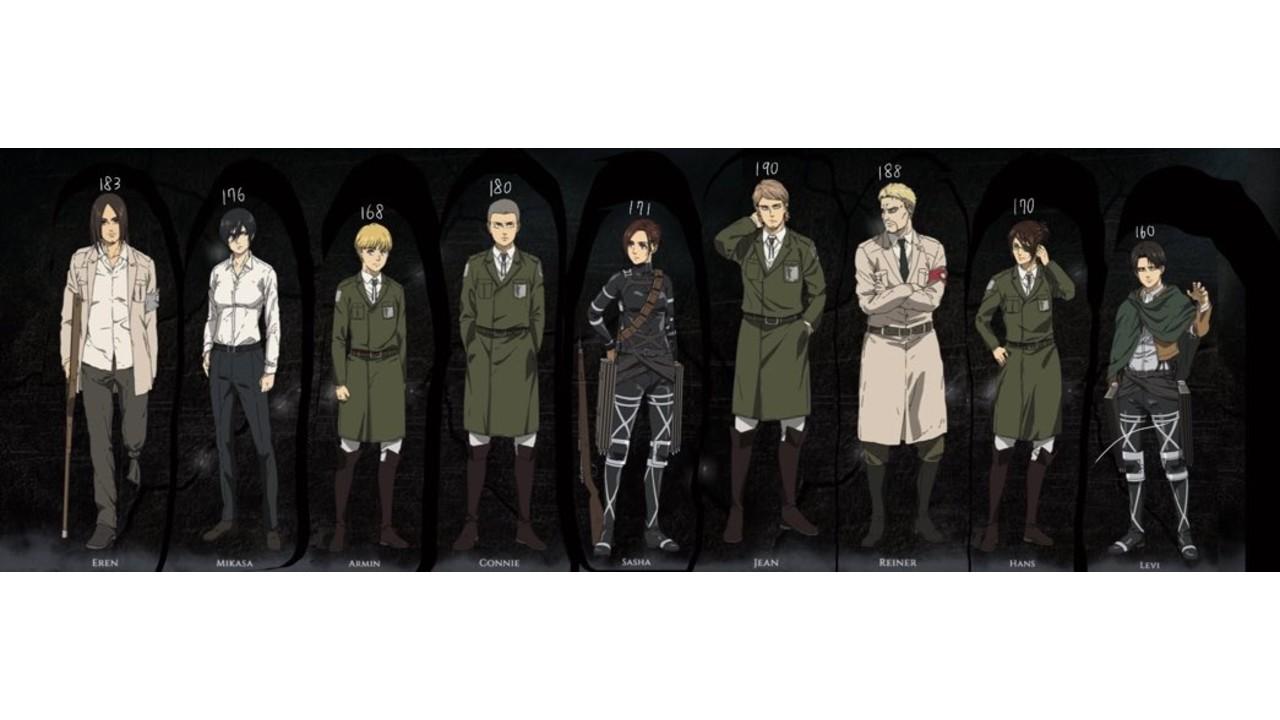 Shingeki no Kyojin: Esta es la estatura de los personajes de la serie