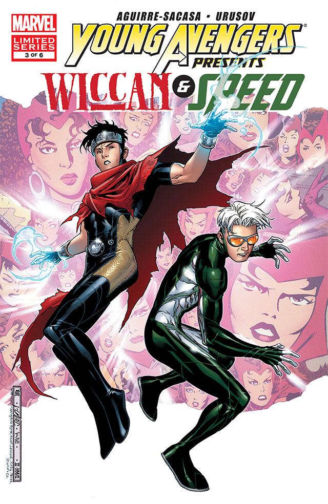 Wiccan y Speed, miembros de los equipo Young Avengers.