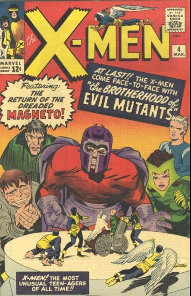 Primera aparición de la Bruja Escarlata y Quicksilver en X-Men No. 4