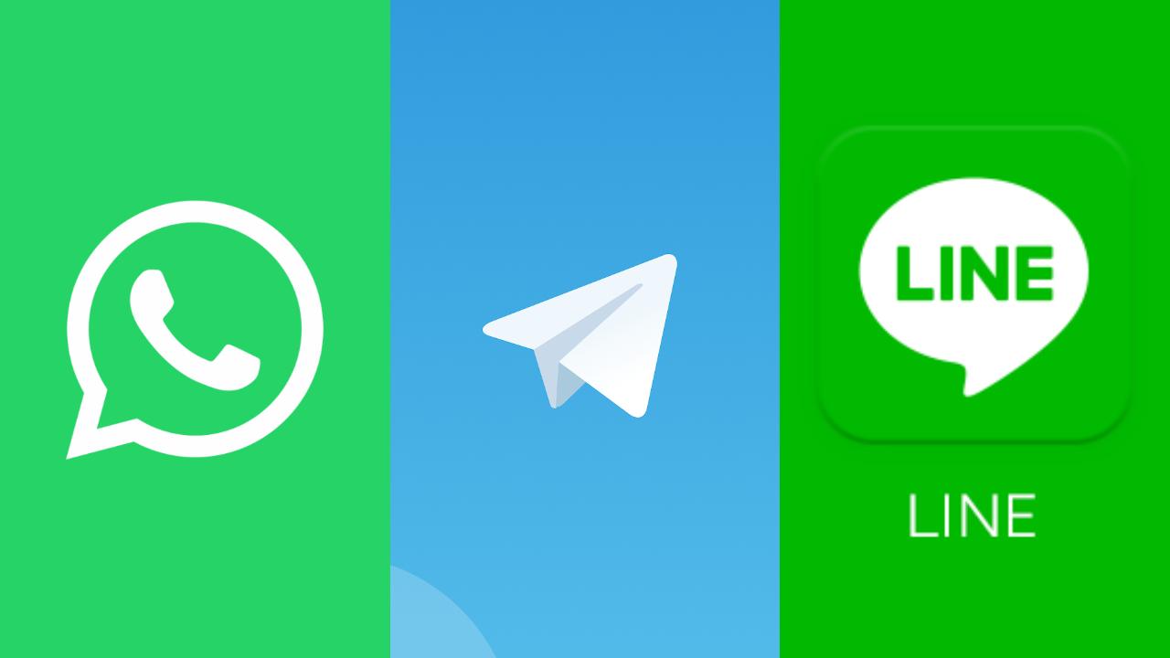 telegram whatsapp line mensajeria apps 2021