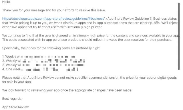 Apple rechaza aplicaciones con precios excesivos en la App Store