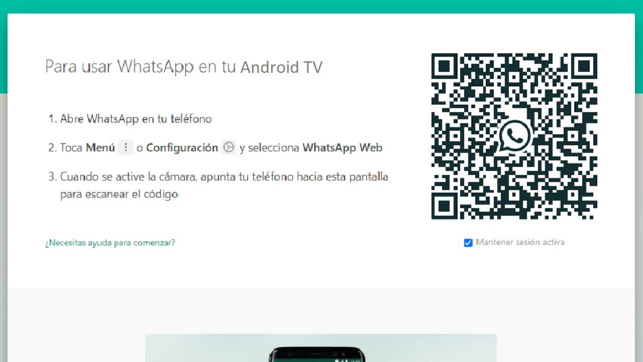 android tv configurar whatsapp