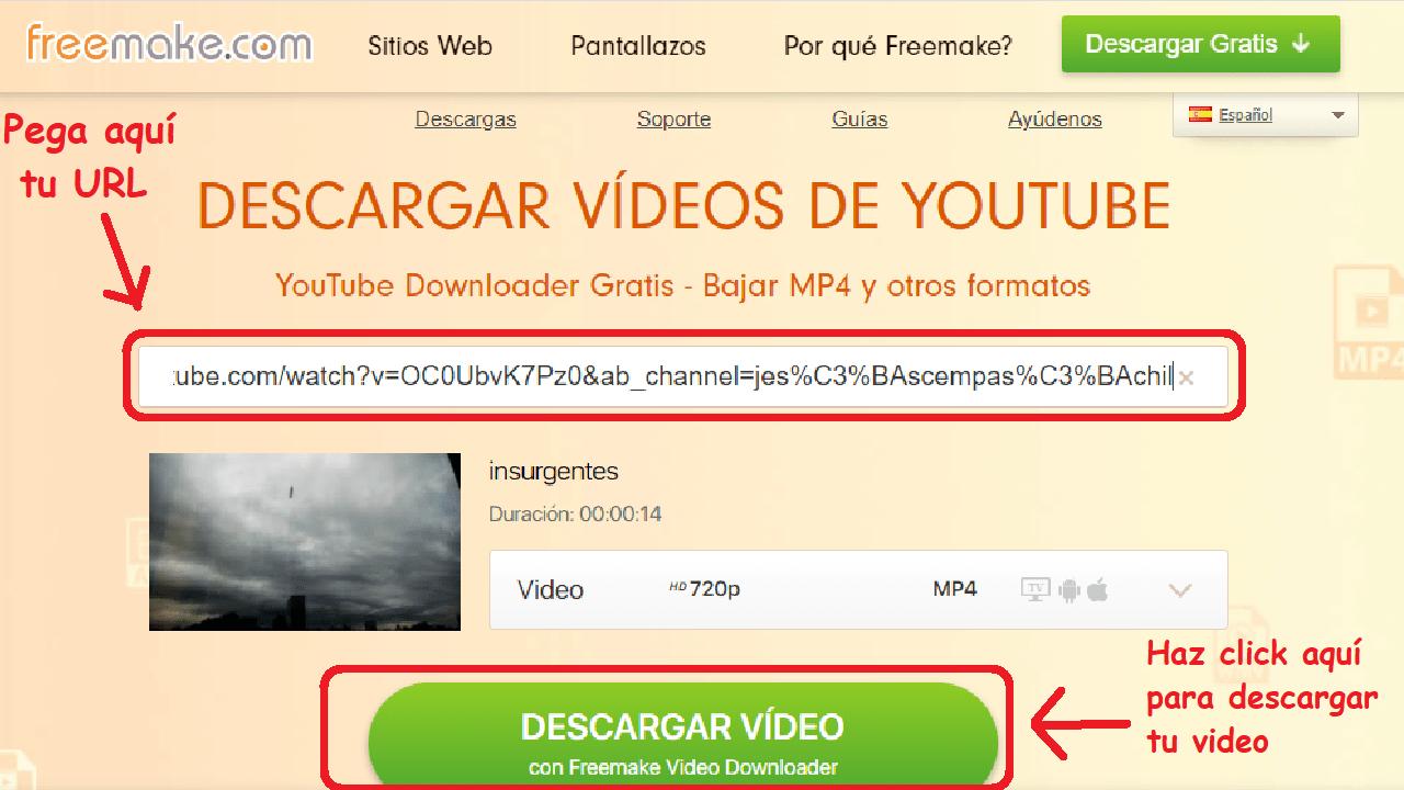 freemake descargar videos hd instructivo