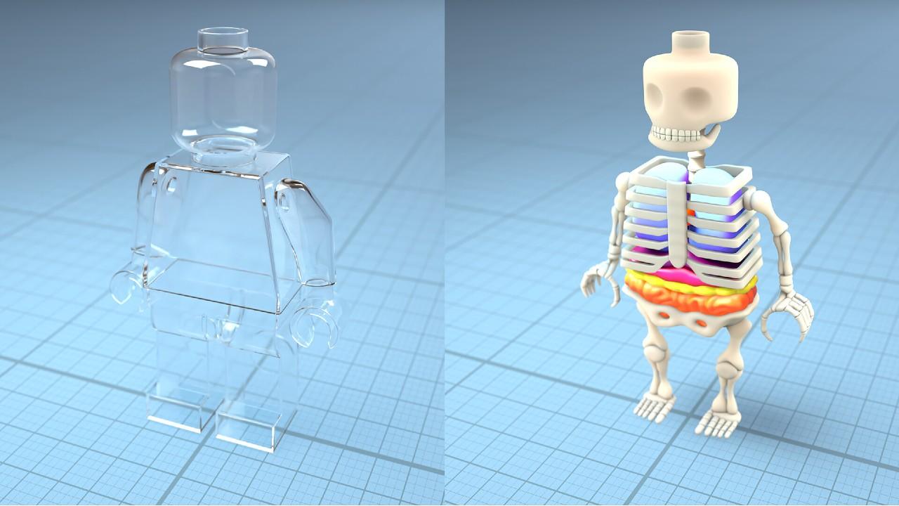 Fan Art en 3D imagina como se ve el cuerpo de un Lego a través de Rayos X (2)