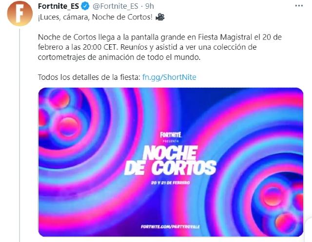 Fortnite tendrá su propio festival de cine en Fiesta campal