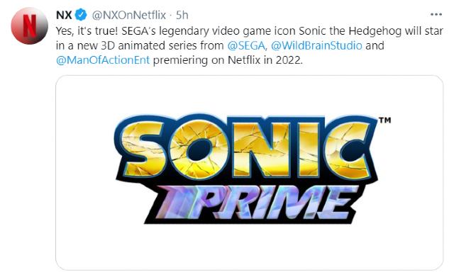Netflix y Sega anuncian la serie 3D de Sonic