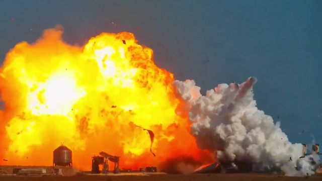 Prototipo de cohete de SpaceX explota en vuelo de prueba