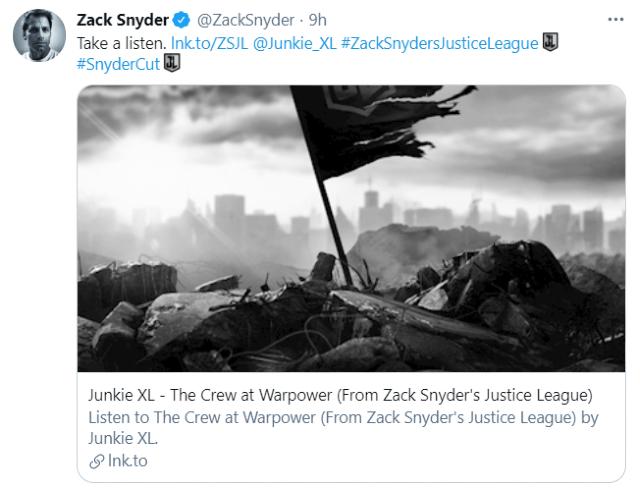 Zack Snyder comparte el soundtrack de Justice League