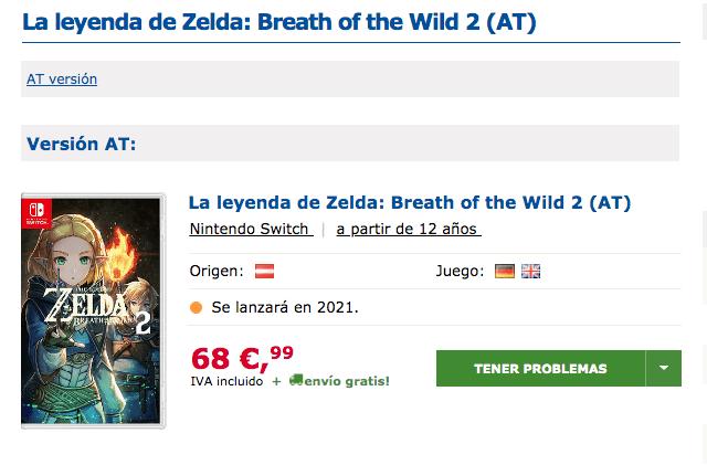 Breath of the Wild 2 fecha de lanzamiento