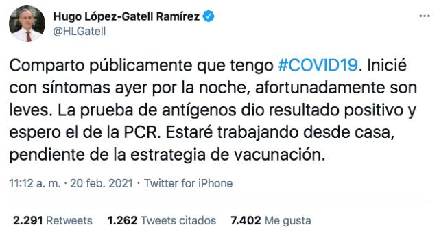 Hugo López Gatell Twitter