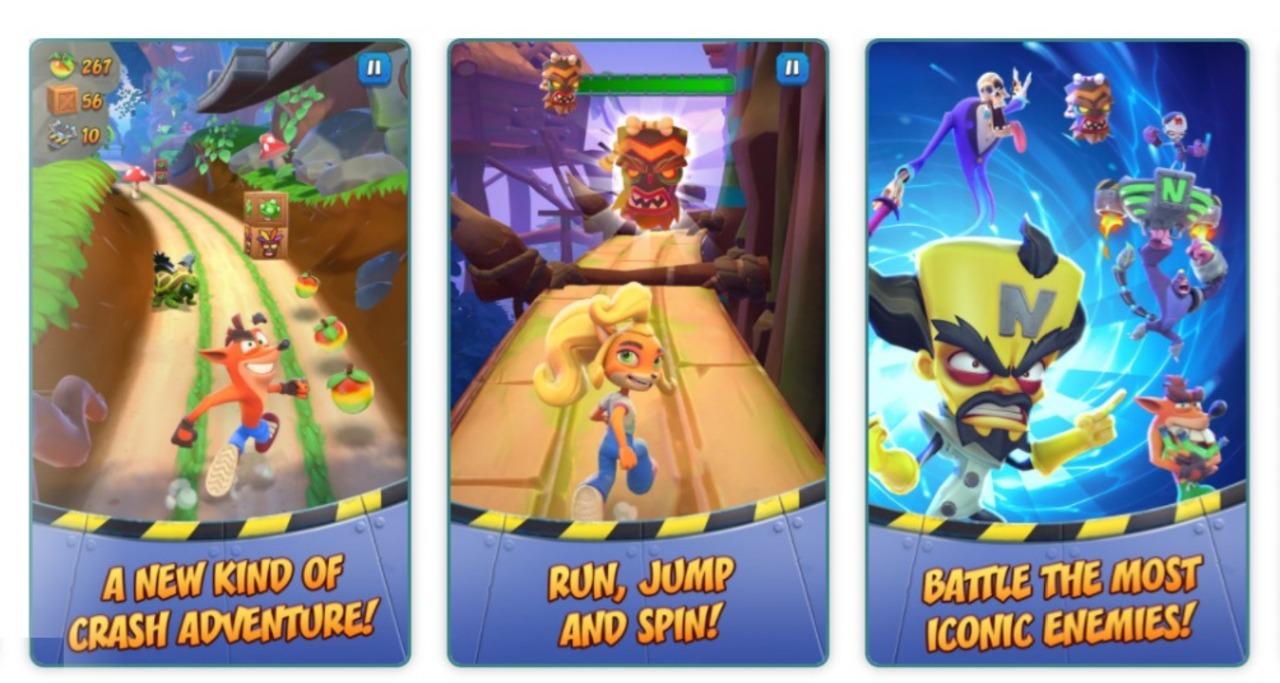 Crash Bandicoot para móviles iOS Android