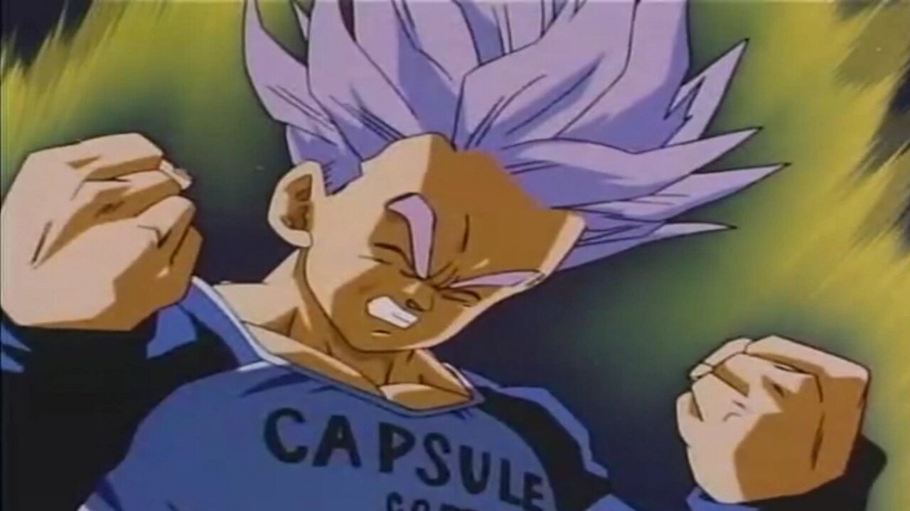 trunks dragon ball super saiyajin falso
