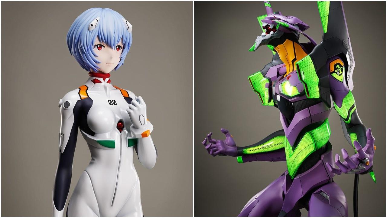 Estatuas gigantes del anime de Evangelion