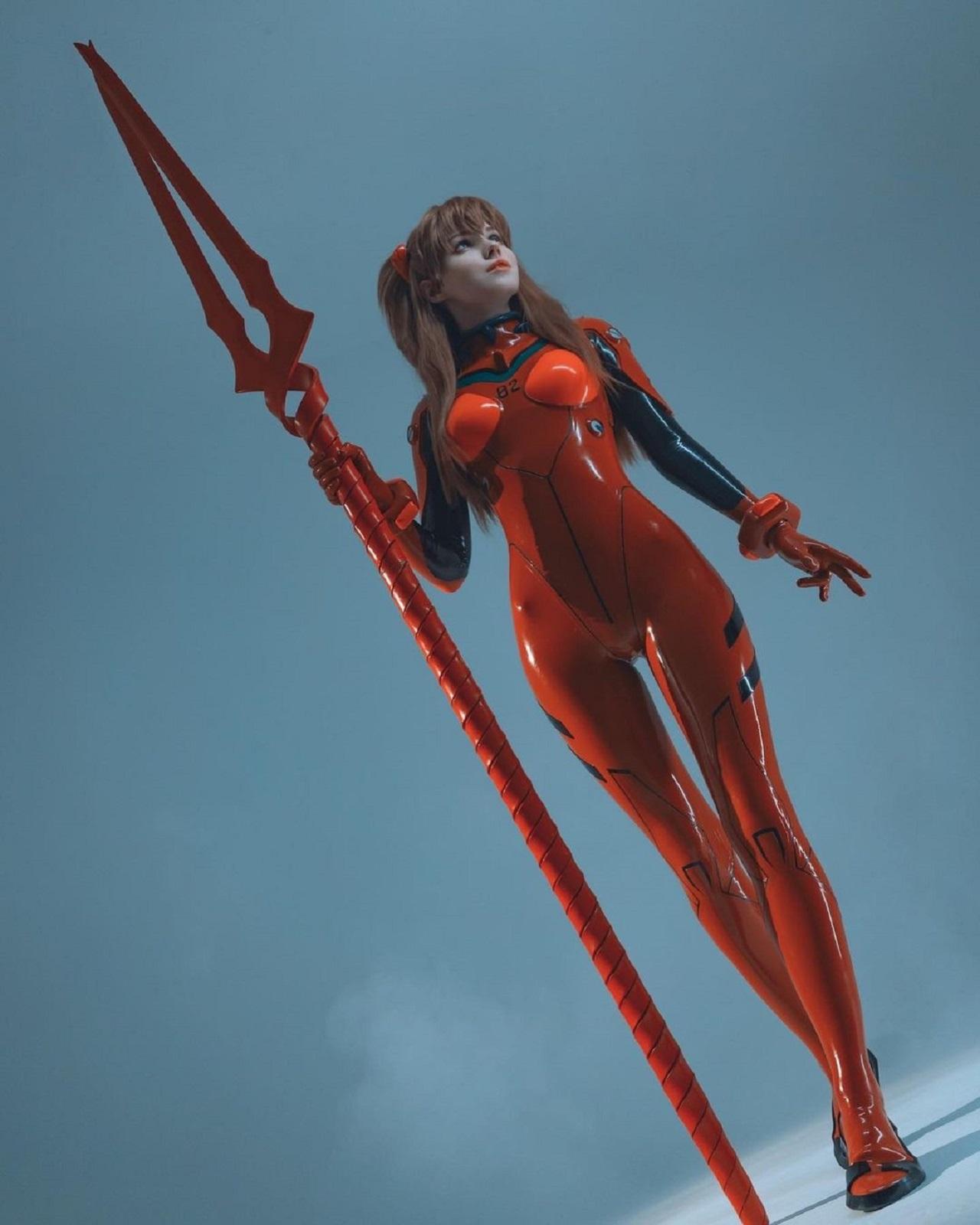 Evangelion Asuka Langley cosplay traje de batalla