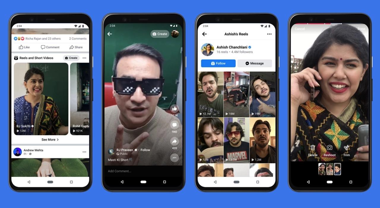 Facebook pruebas Reels Instagram