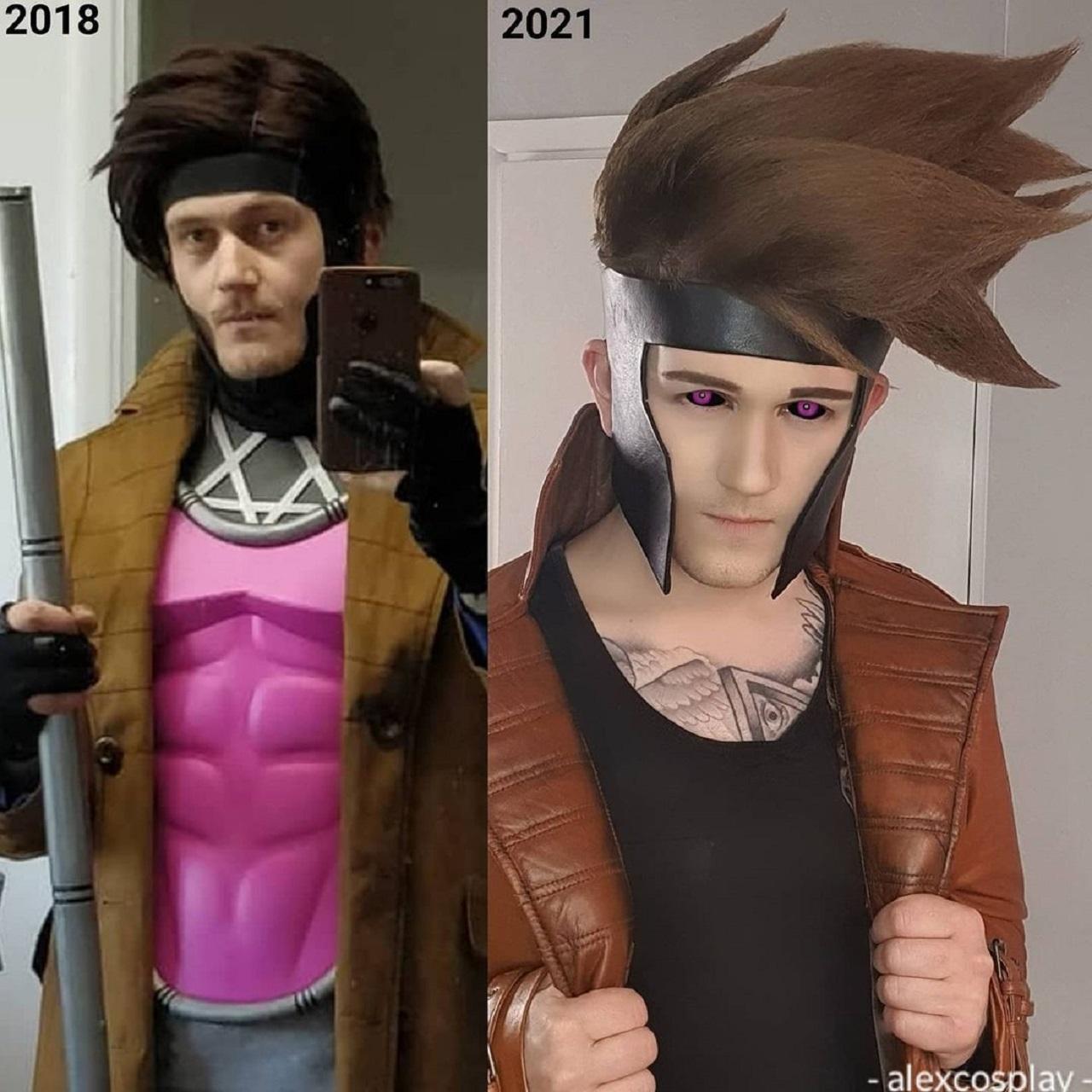 Marvel cosplay Gambit X-Men peluca disfraz