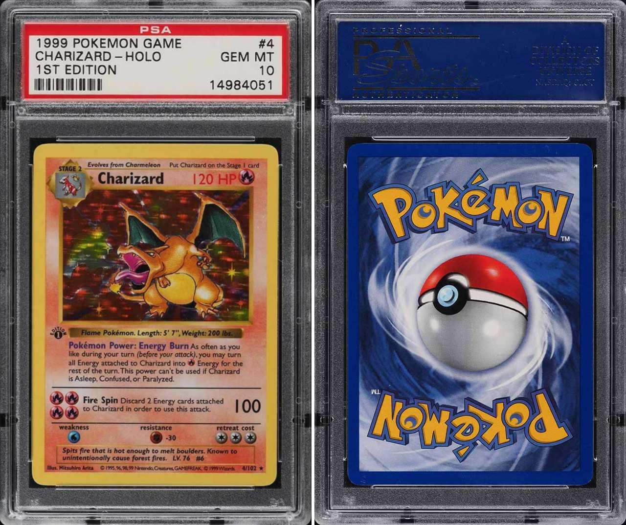 Pokémon holograma Charizard subasta dólares