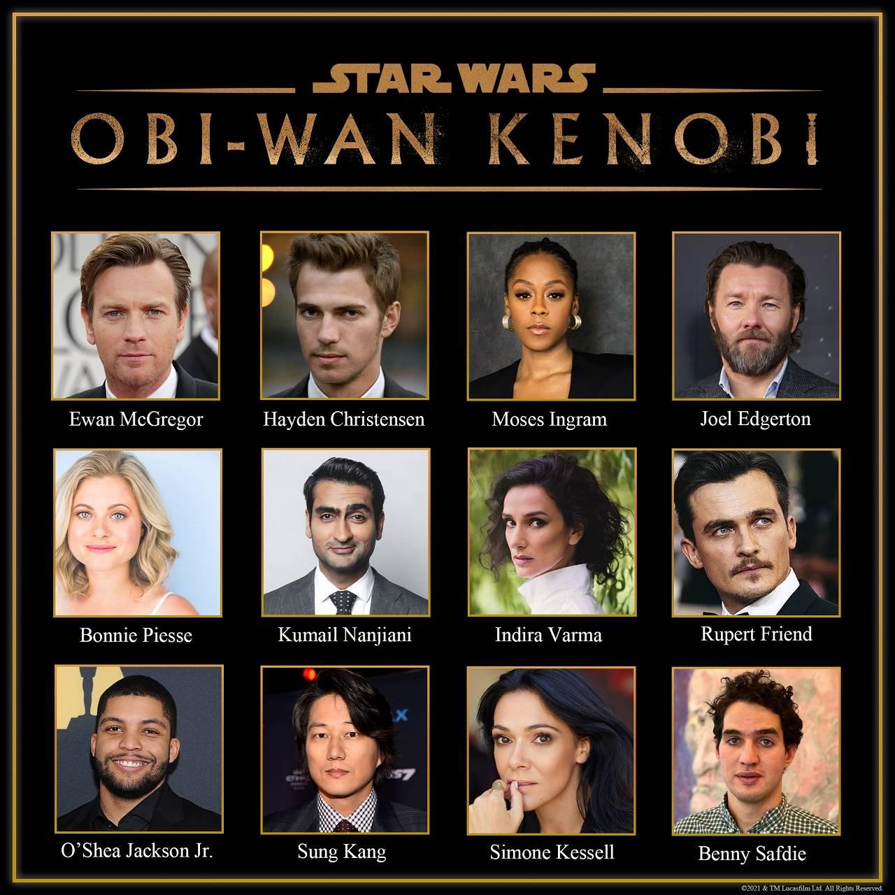 Serie Obi-Wan Kenobi Star Wars Reparto Completo