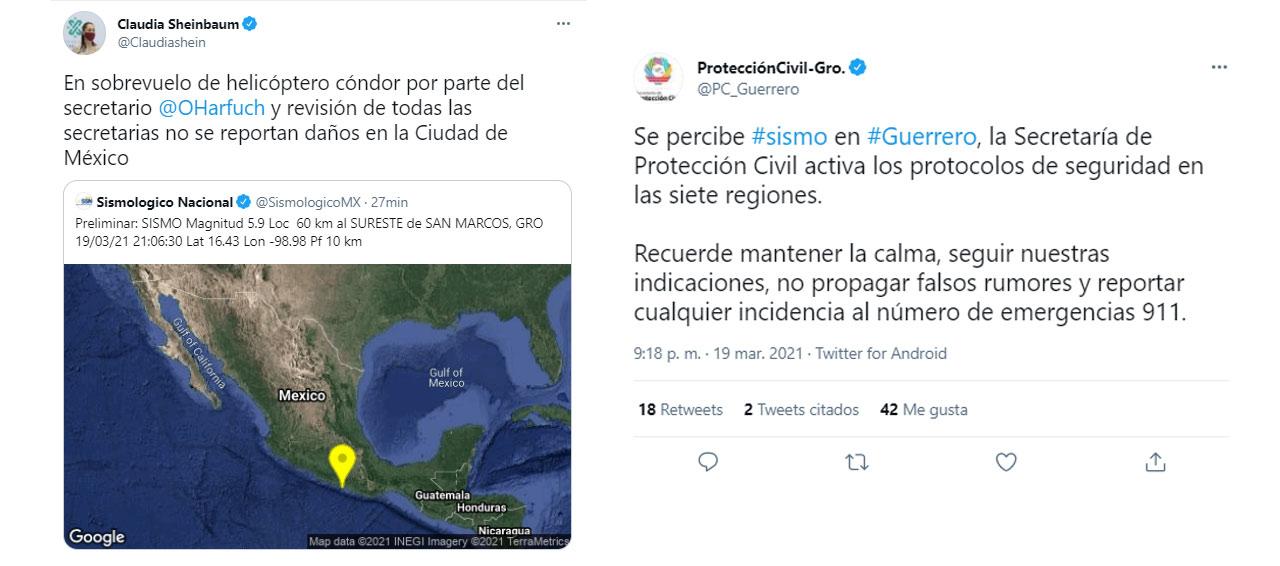 Sismo Guerrero CDMX Margitud 5.9